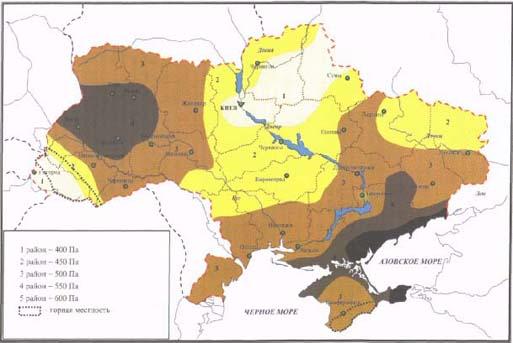 Карта ветров Украины.