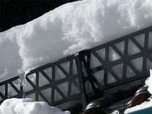 Монтаж решетчатых снегозадержателей.