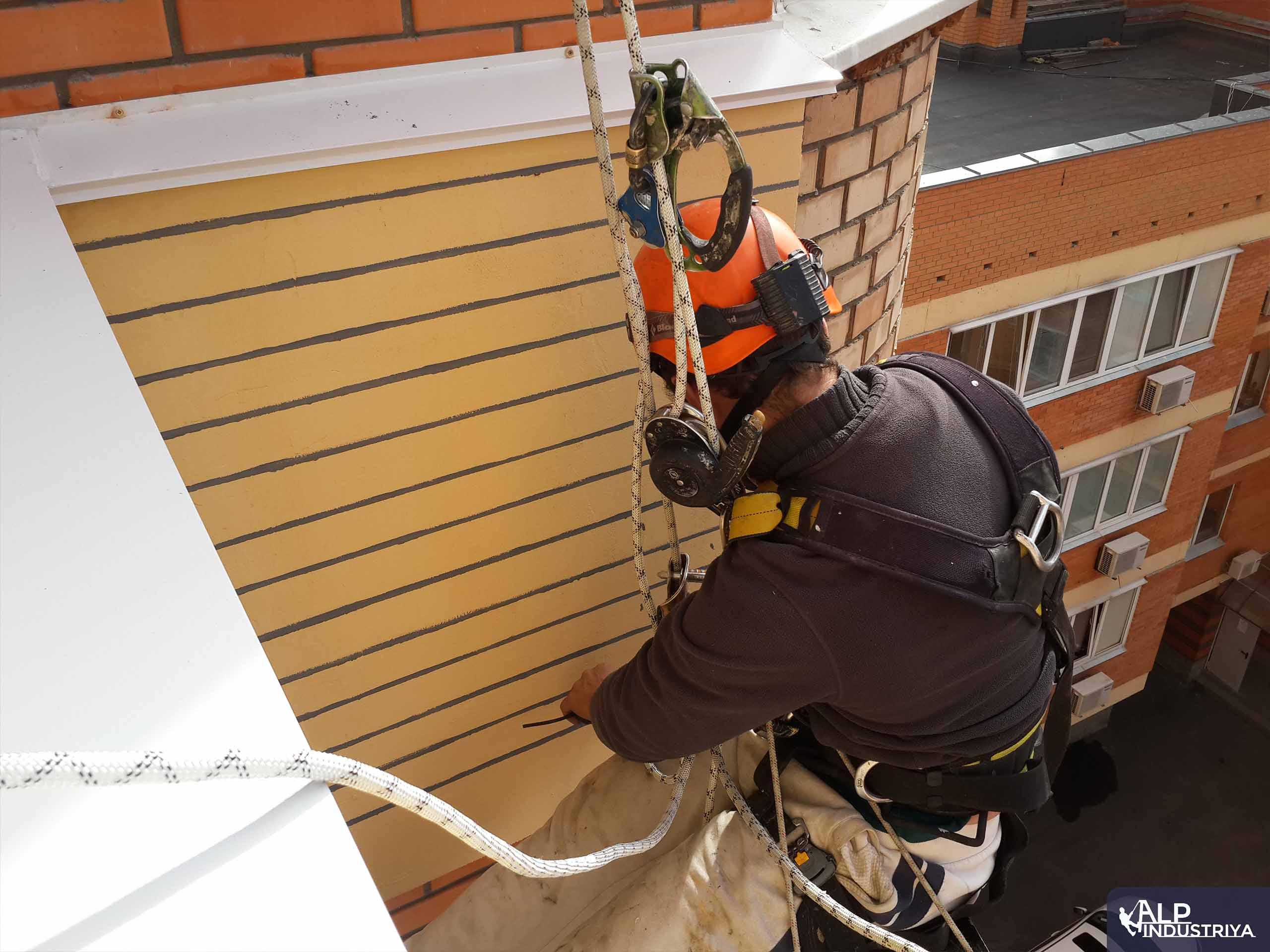 Высотное утепление балкона снаружи дома-1