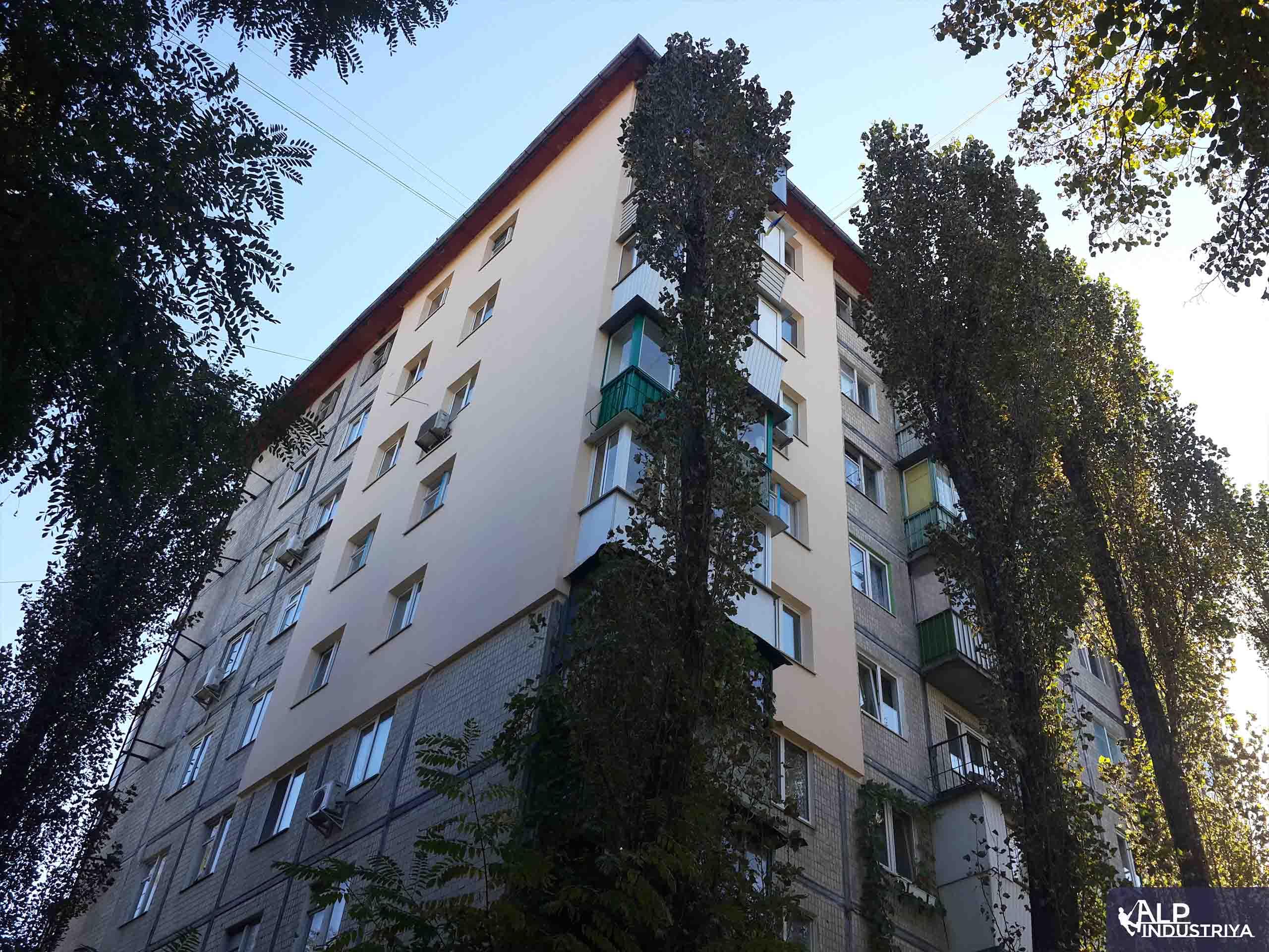 Теплоизоляция стен и углов многоквартирного дома промальпами-1