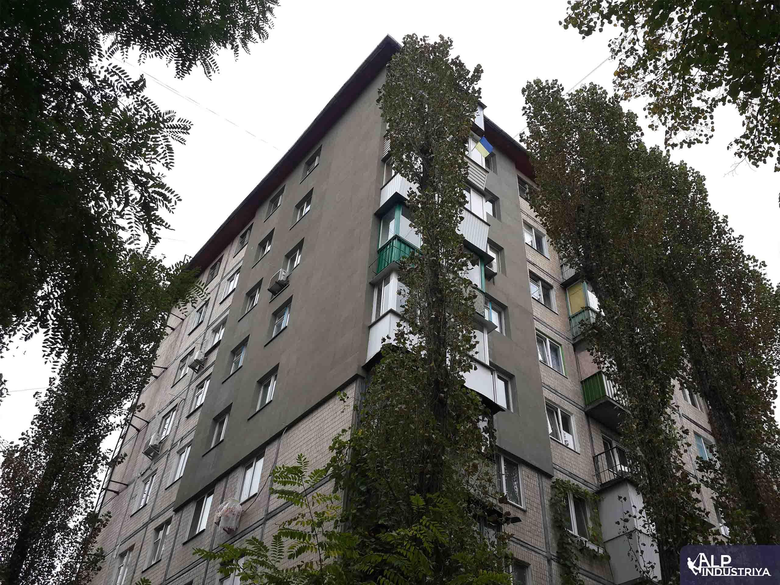 Теплоизоляция стен и углов многоквартирного дома промальпами-5
