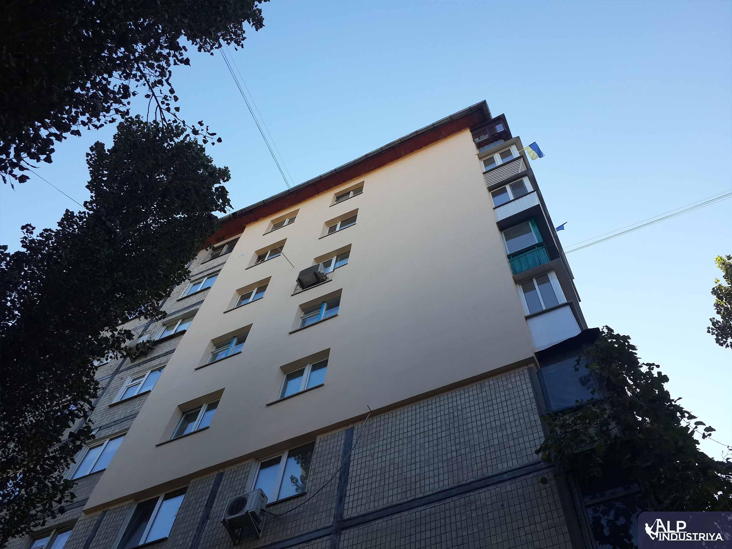Теплоизоляция стен и углов многоквартирного дома промальпами-6