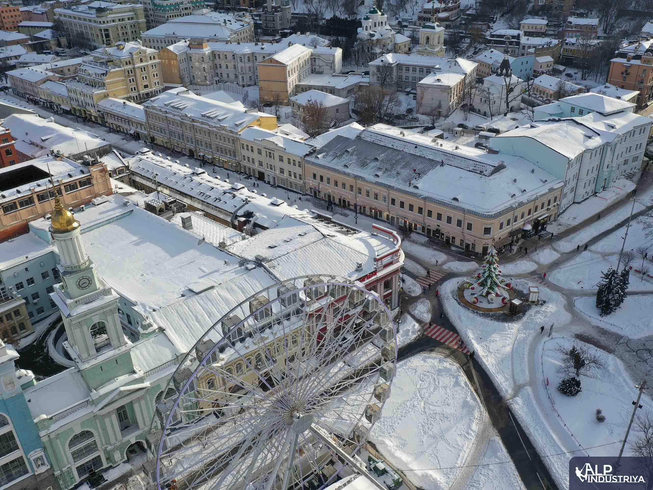 Услуги по удалению снежных осадков с кровли здания-1