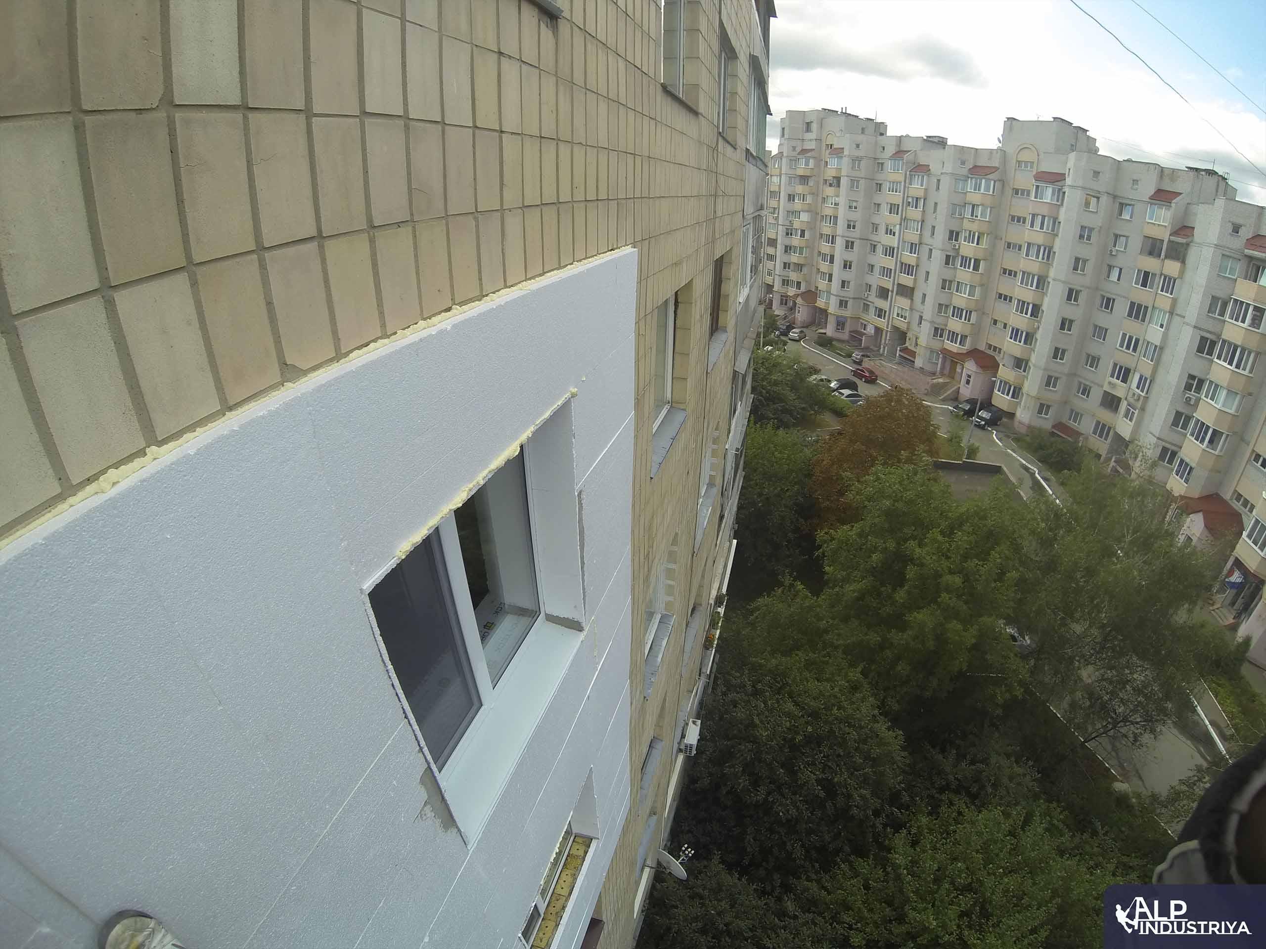 Пример работы по теплоизоляции стен дома одного из наших клиентов-2