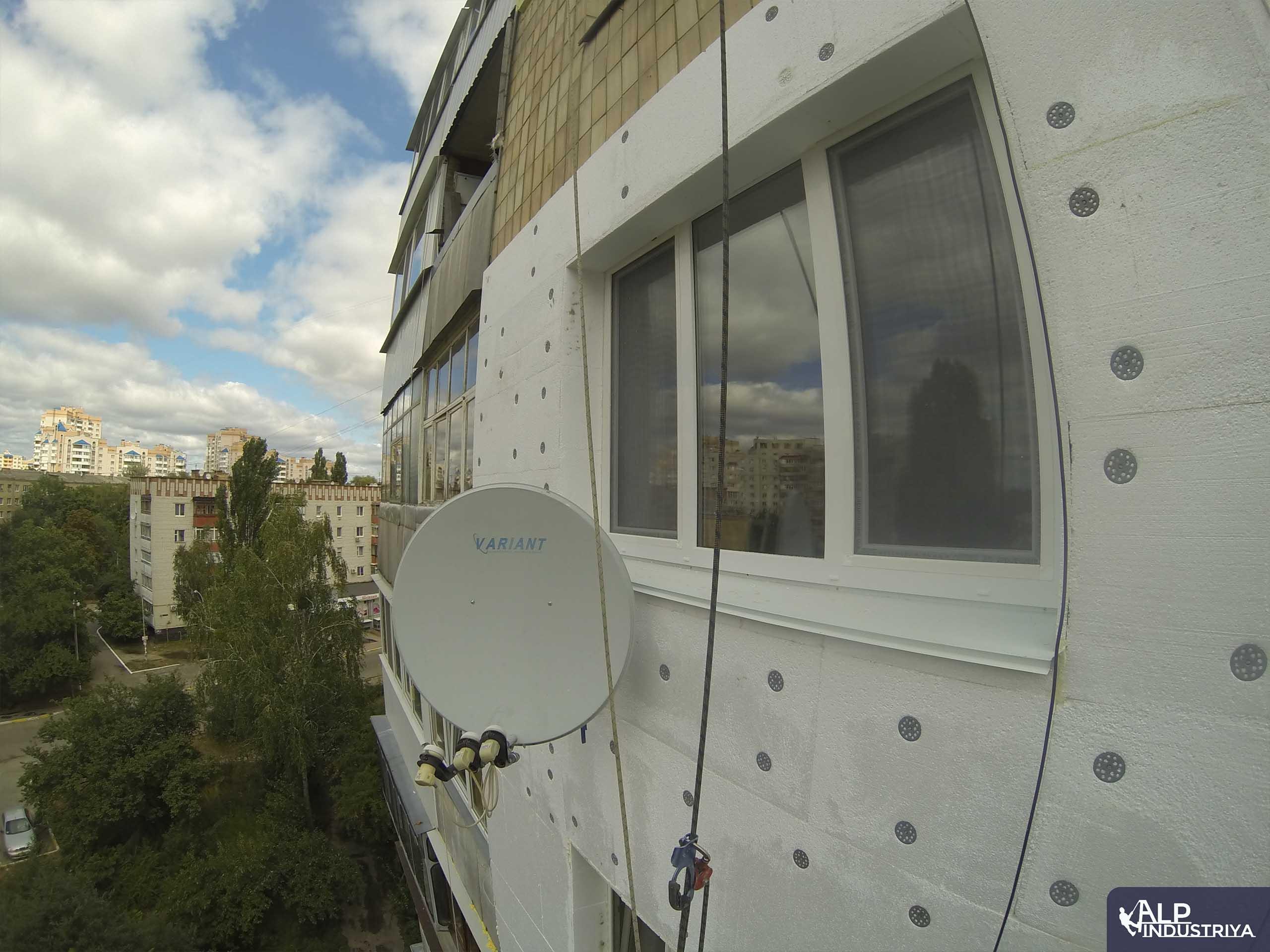 Пример работы по теплоизоляции стен дома одного из наших клиентов-3