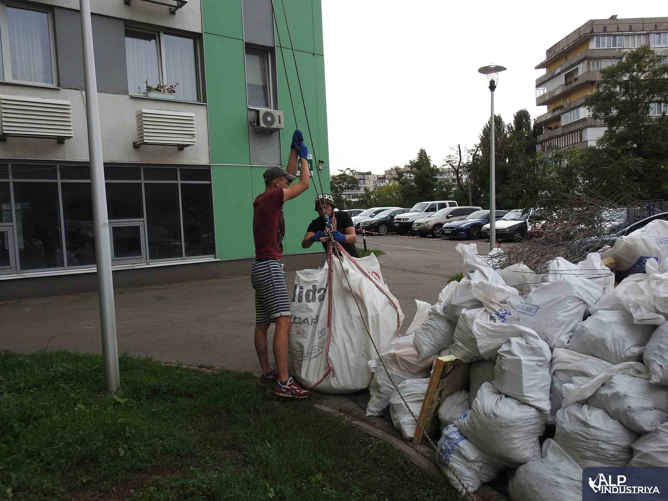 Спуск строительного мусора-7