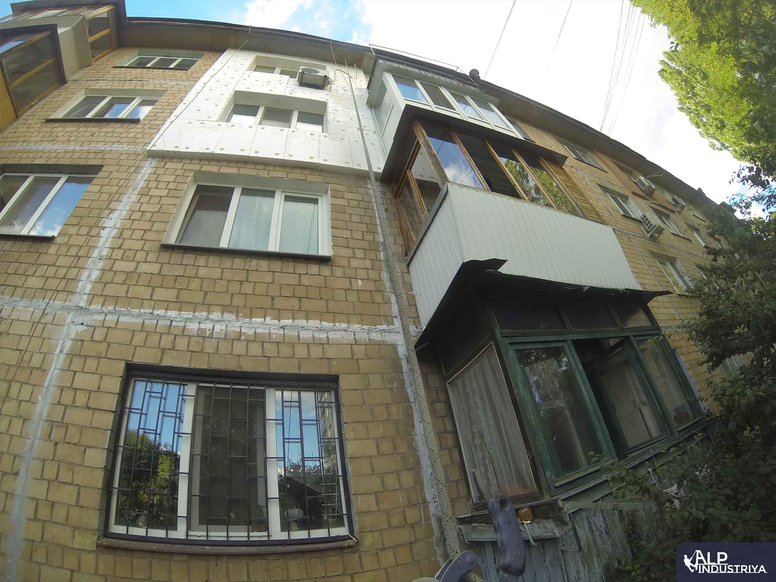 Монтаж утеплителя и отделка стен снаружи дома-4