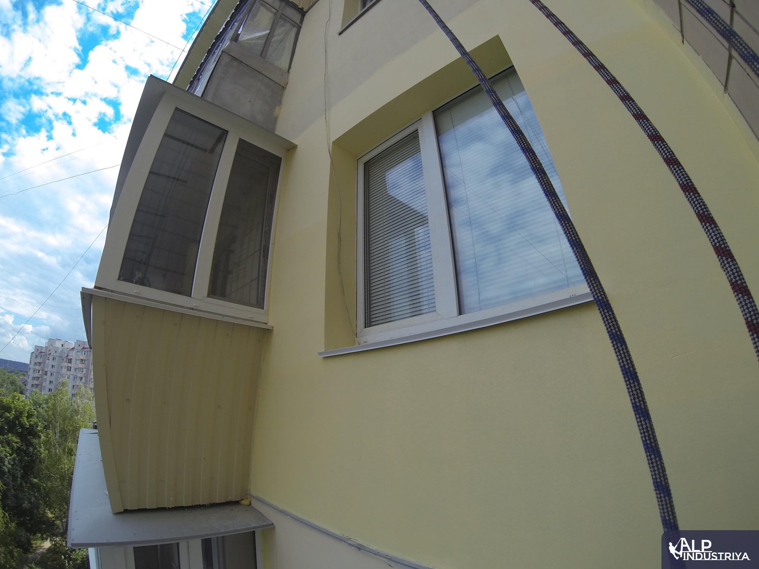 Утепление фасада многоэтажки методом промышленного альпинизма-1