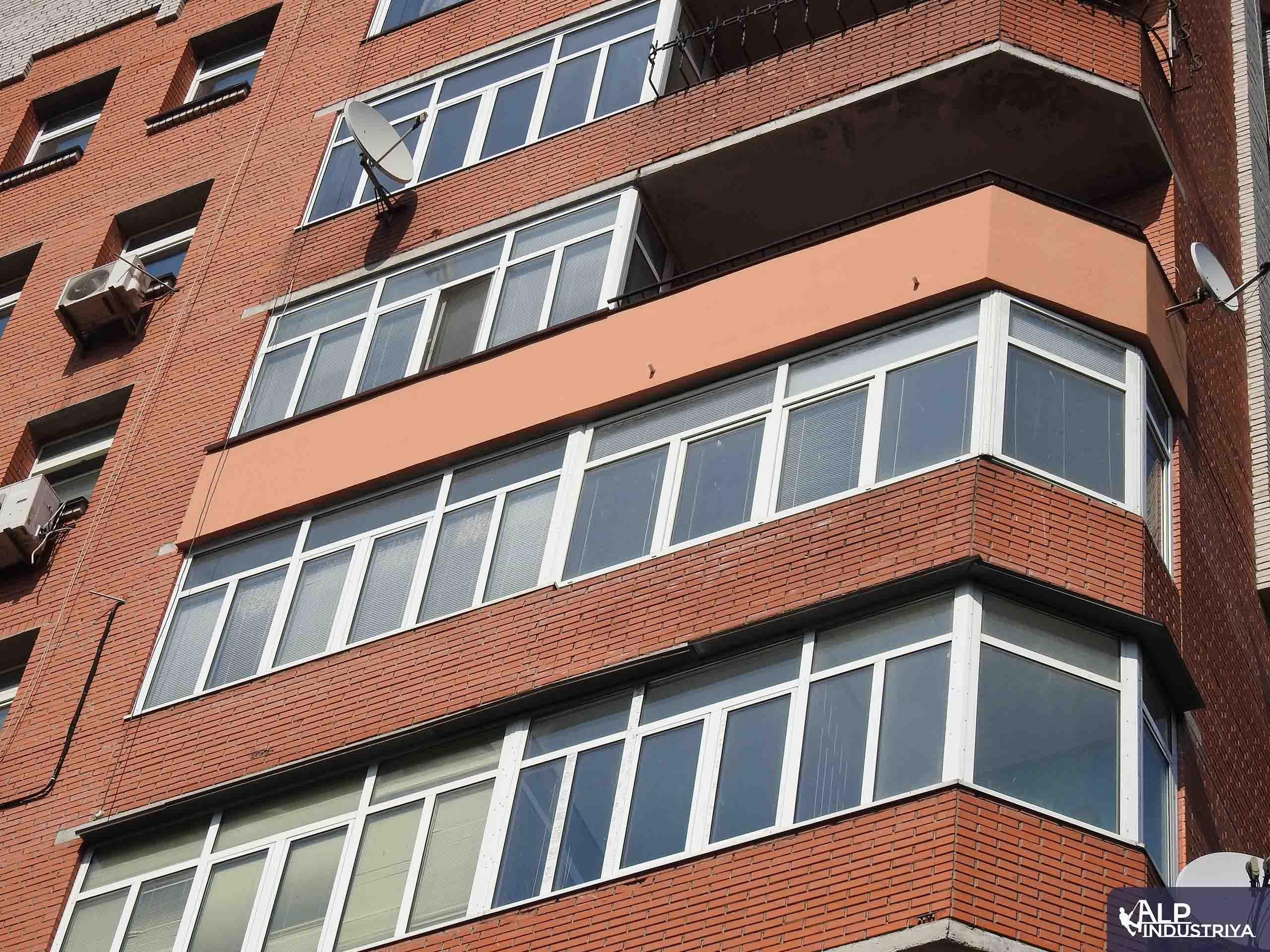Утепление лоджии на высоте снаружи здания-3