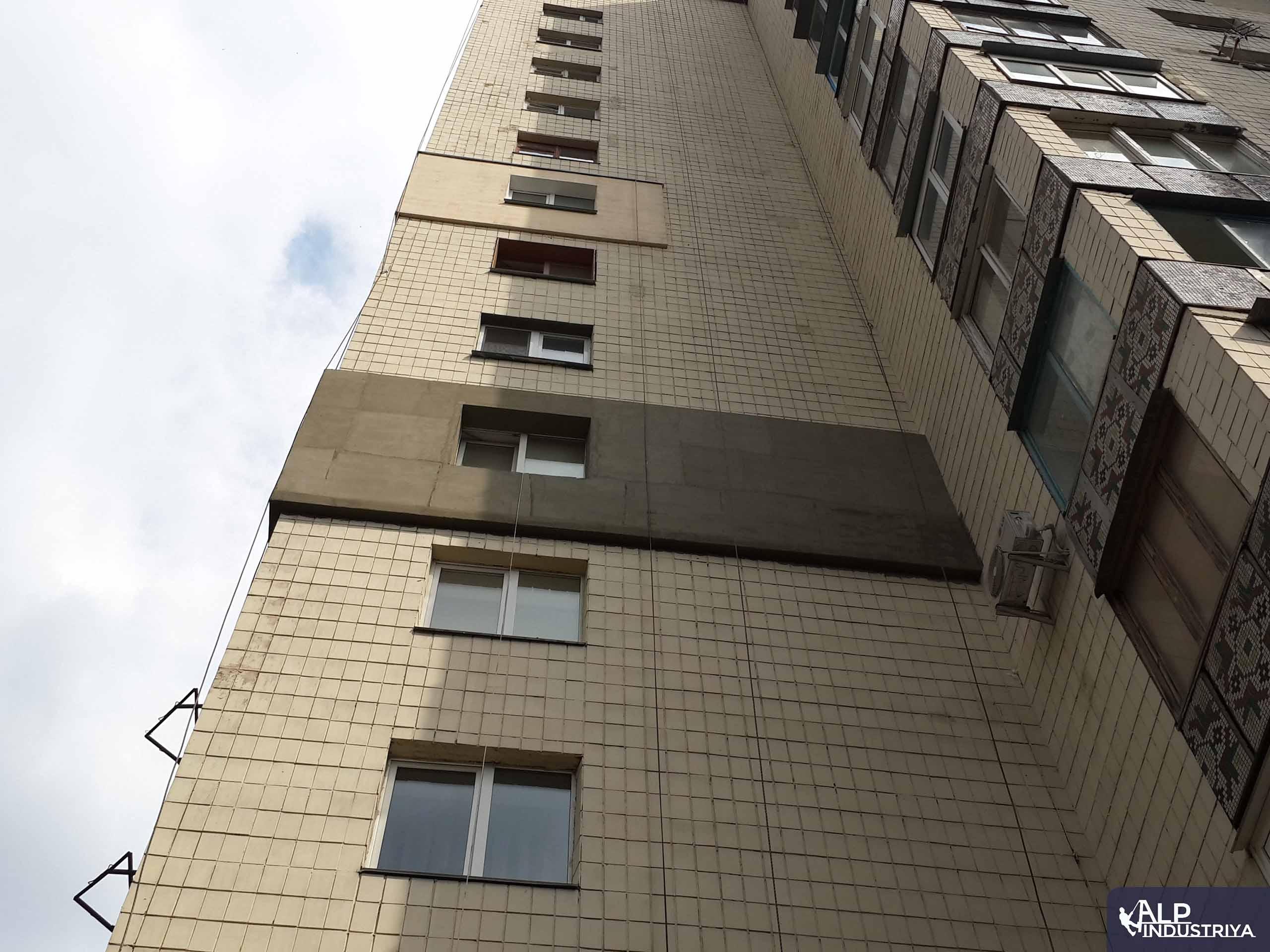 Фасад дома, утепленный альпинистами нашей компании-4