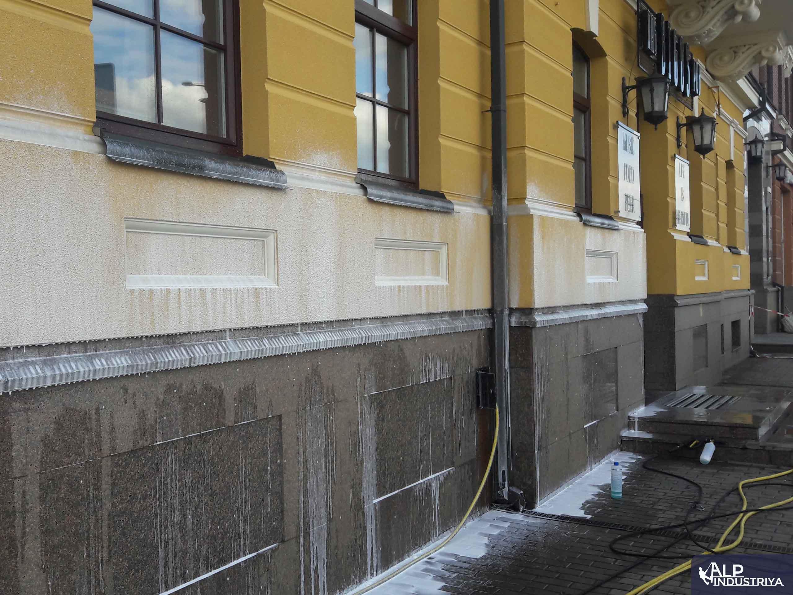 Фасад вымытый аппаратом высокого давления 2
