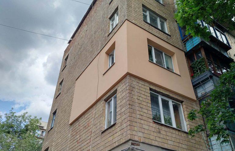 Выполненная теплоизоляция стен снаружи здания!